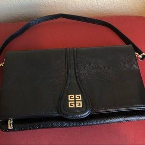 Givenchy black folded clutch/shoulder bag